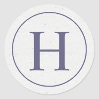Lavender Ring Monogram Sticker