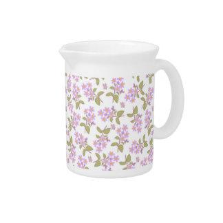Lavender Roadside Flowers Pitcher