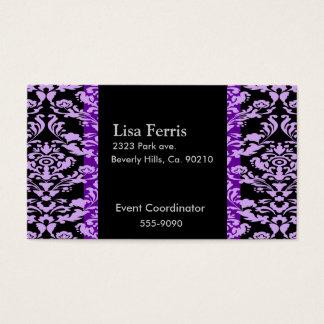 Lavender Rococo Elegant Custom Color Business Card