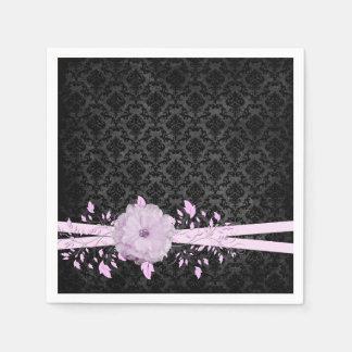 Lavender Romance Flower Luxury Damask Napkins