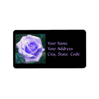 Lavender Rose Address Labels