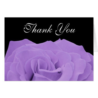 Lavender Rose and Black Thank You Card