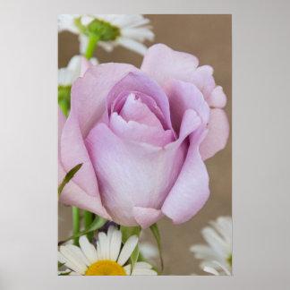 Lavender Rose Bud Wall Art