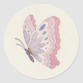 Lavender Rose Butterfly sticker