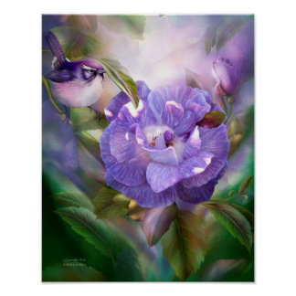 Lavender Rose Fine Art Poster/Print Poster