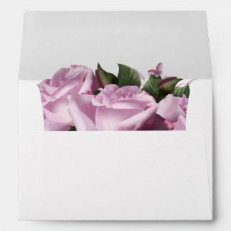 Lavender Rose Flower Floral Greeting Card Envelope