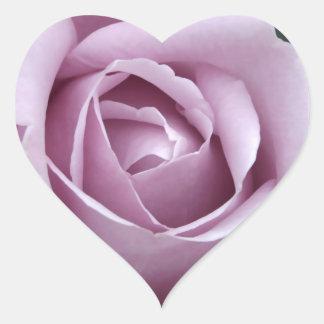 Lavender Rose Flower Heart Sticker