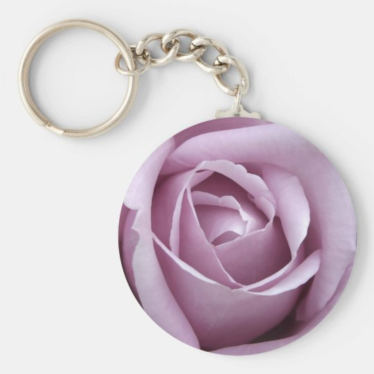 Lavender Rose Flower Keychain
