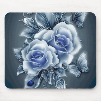 Lavender Rose Garden Mousepad
