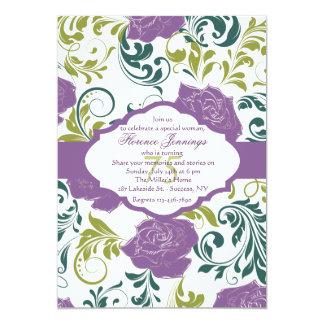 Lavender Rose Invitation