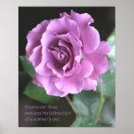 Lavender Rose Poster: ROSE & PROSE 16x20