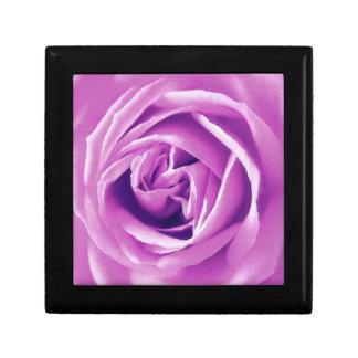 Lavender rose print jewelry box