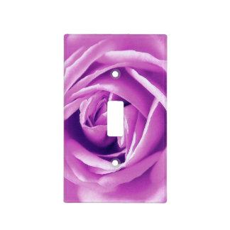 Lavender rose print light switch cover