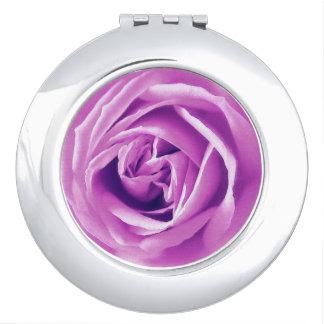 Lavender rose print makeup mirror