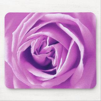 Lavender rose print mouse pad