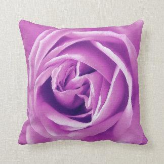 Lavender rose print throw pillow