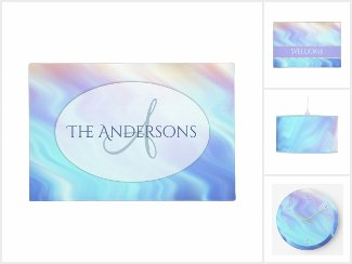 Lavender, Rose Quartz, Turquoise Abstract Waves