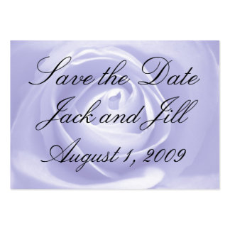 Lavender Rose, Save the Date Large Business Card