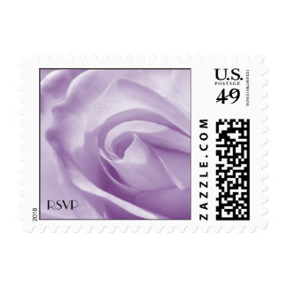 Lavender Rose Small Postal Square Wedding Postage