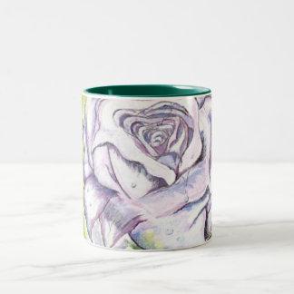 lavender rose Two-Tone coffee mug