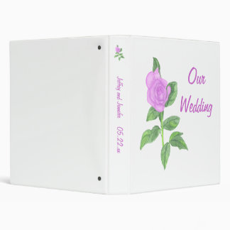 Lavender Rose Wedding Keepsake Binders Template