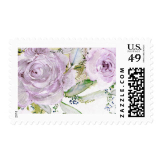 Lavender Rose Wedding Stamp