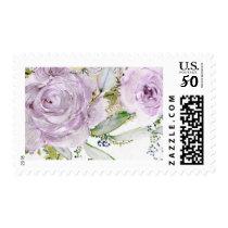 Lavender Rose Wedding Stamp