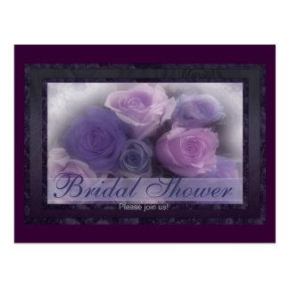 lavender roses Bridal Shower 1 Postcard