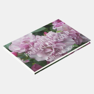 Lavender Roses Personalized Bridal Shower Guest Book