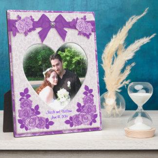 Lavender roses portrait photo plaque