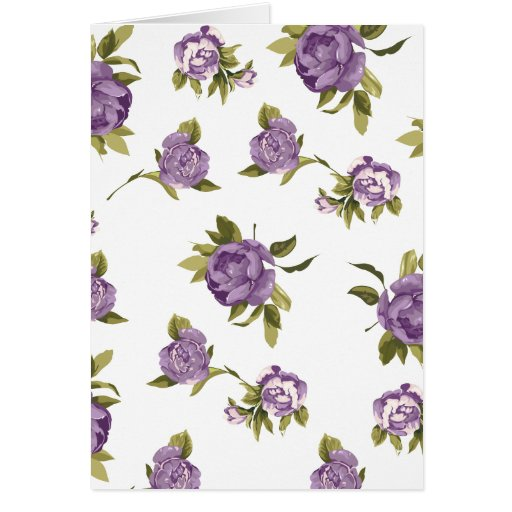 Lavender Roses Shabby Chic Greeting Card