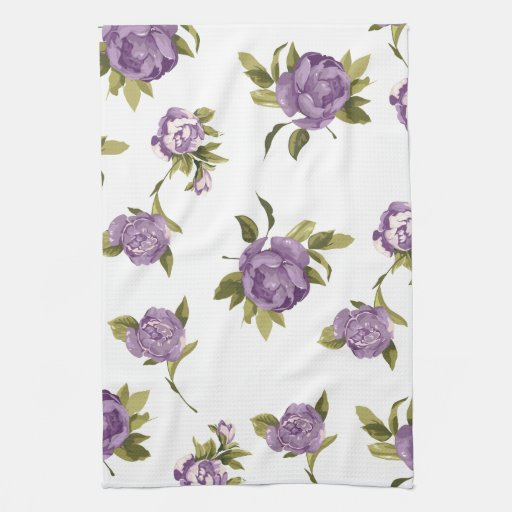 Lavender Roses Shabby Chic Hand Towel   Zazzle