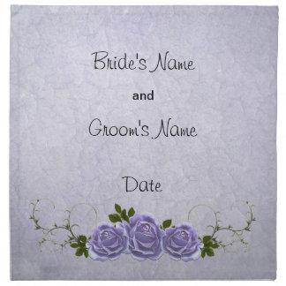 Lavender Roses Wedding Napkin