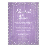 Lavender Rustic Country Wood Wedding Invitations Personalized Announcement