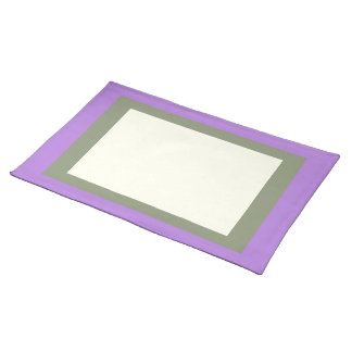 Lavender Sage and Ivory Placemat
