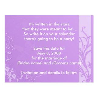 Lavender Save the date Postcard