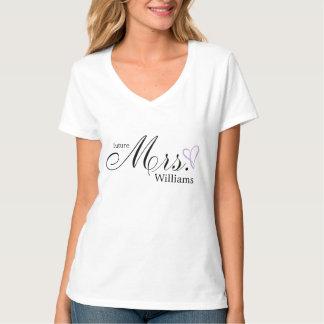 Lavender Scribbled Heart Future Mrs T-shirt