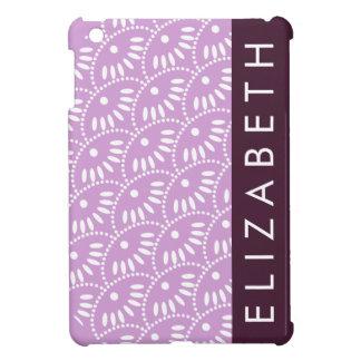 Lavender Seigaiha Personalized iPad Mini Case For The iPad Mini