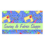 Lavender Sewing Art Fabric Store Promotion Business Card