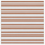 [ Thumbnail: Lavender & Sienna Colored Lined/Striped Pattern Fabric ]