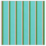 [ Thumbnail: Lavender, Sienna, Green & Turquoise Lines Fabric ]
