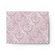 lavender,silver,silk,damask,pattern,chic,elegant,b envelope