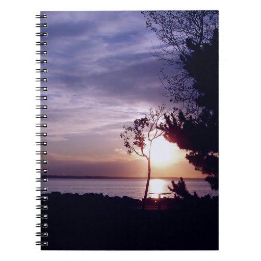 Lavender Skies Spiral Note Book