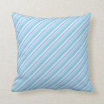 [ Thumbnail: Lavender & Sky Blue Pattern Throw Pillow ]