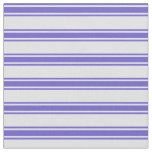 [ Thumbnail: Lavender & Slate Blue Colored Lines Pattern Fabric ]