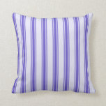 [ Thumbnail: Lavender & Slate Blue Colored Lines Pattern Pillow ]