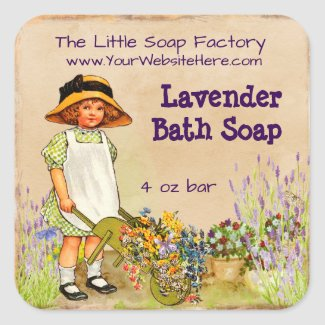 Lavender Soap and Bath Products Label