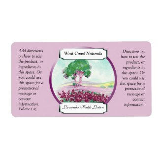 Lavender Soap and Bath Products Label Template