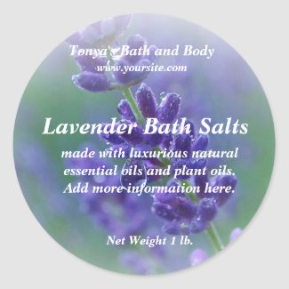 Lavender Soap Label