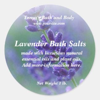 Lavender Soap Label Classic Round Sticker